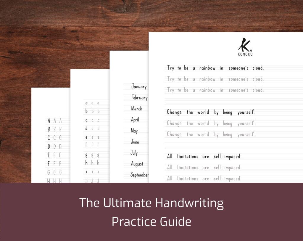 Esercizi di calligrafia stampabili in PDF - stampatello minuscolo