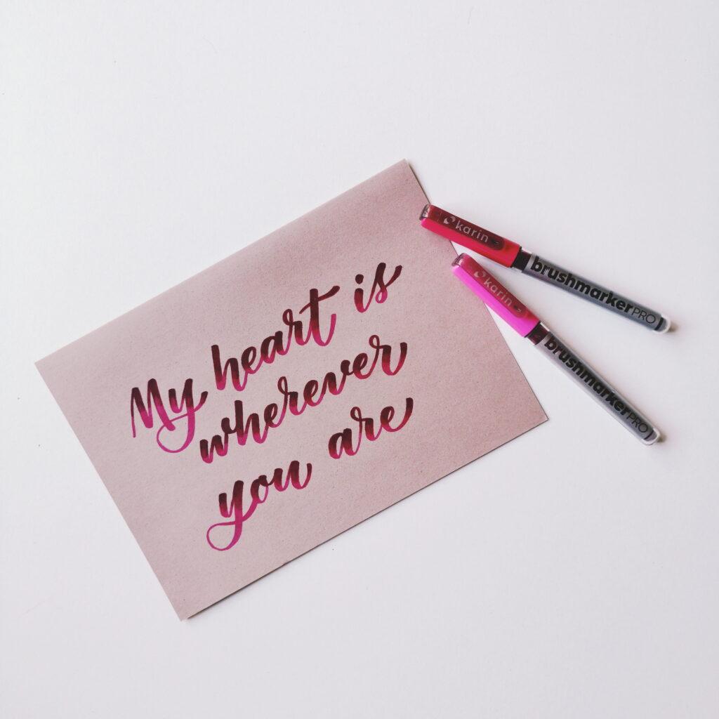 Brush Lettering esempio di Calligrafia con Brush Pen