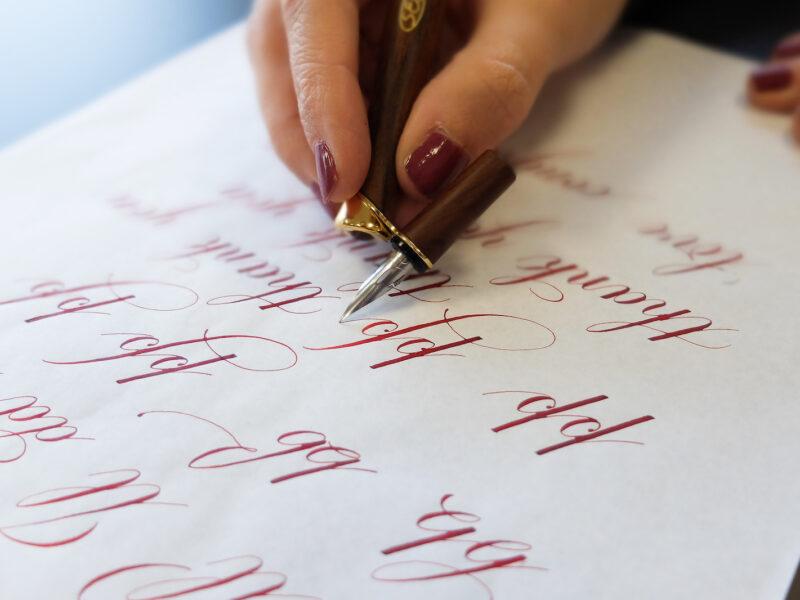 esempio di calligrafia in Corsivo Inglese