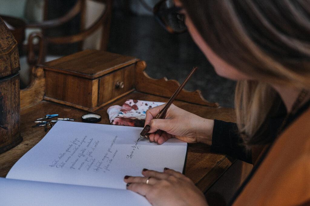Calligrafia per matrimoni